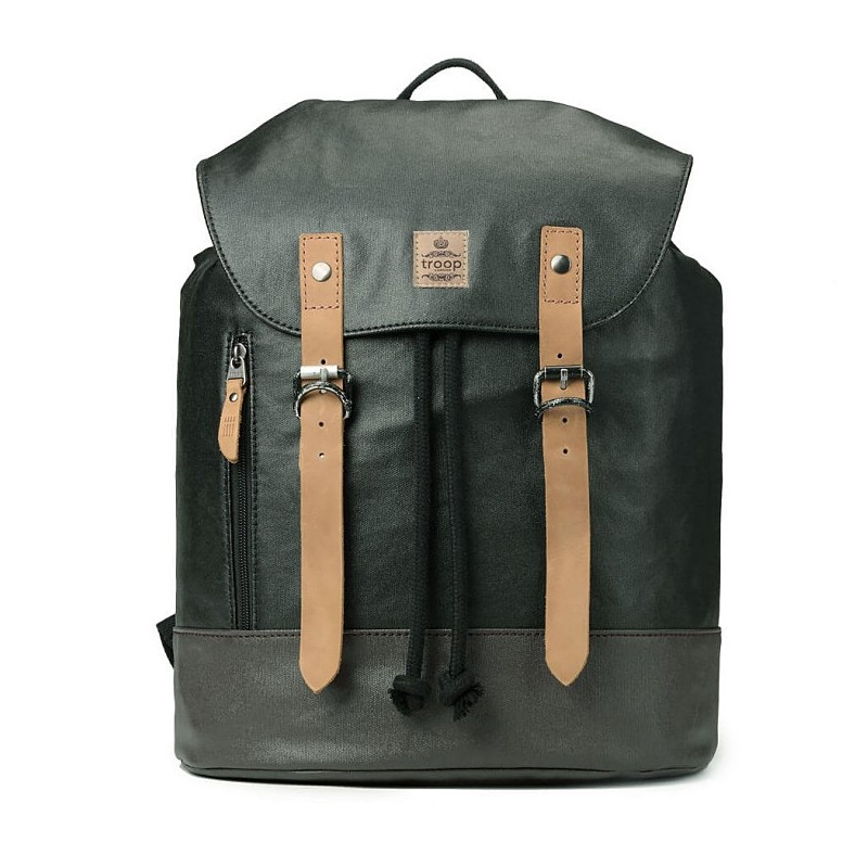 Troop London TRP0448 Větší stylový batoh - Black