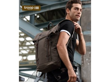Troop London TRP0425 Batoh s klopou na notebook 15,6 - Olive