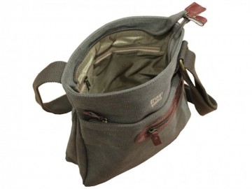 Troop London TRP0227 Unisex brašna přes rameno - Brown