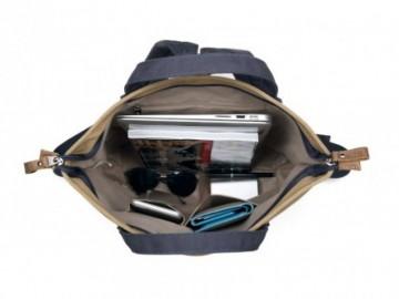 Troop London TRP0420 Taška a ruksak v jednom - Navy/Camel