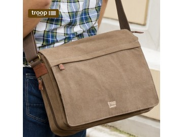 Troop London TRP0240 Rozšířitelná taška na notebook 15,6 - Brown