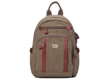 Troop London TRP0255 Malý batoh z přírodní bavlny - Brown
