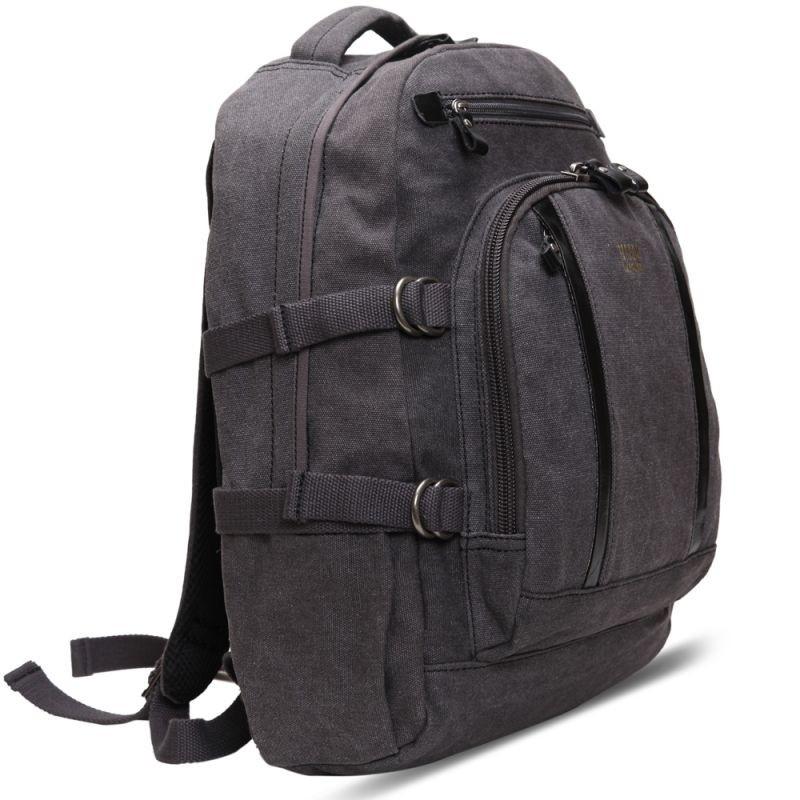 Troop London TRP0257 Velký batoh z přírodní bavlny - Black