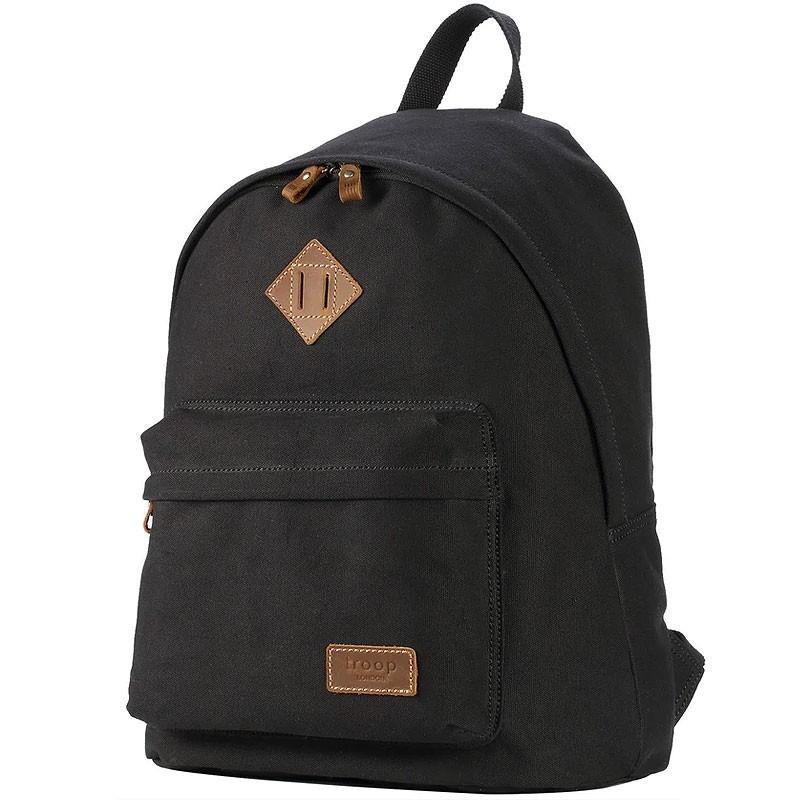 Troop London TRP0384 Školní batoh klasického vzhledu - Black