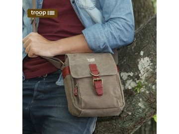 Troop London TRP0212 Unisex taška přes rameno - Brown