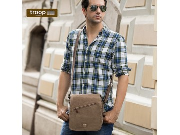 Troop London TRP0239 Rozšířitelná menší taška přes rameno - Brown