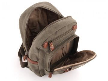 Troop London TRP0255 Malý batoh z přírodní bavlny - Black