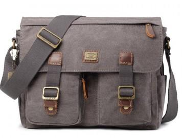Troop London TRP0270 Vintage větší taška přes rameno - Brown