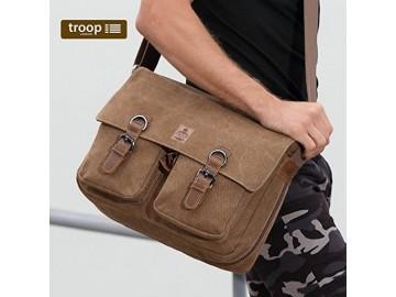 Troop London TRP0422 Klasická brašna přes rameno - Brown