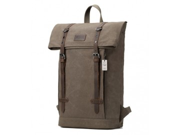 Troop London TRP0425 Batoh s klopou na notebook 13 - Olive