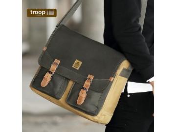 Troop London TRP0418 Klasická brašna přes rameno - Green/Camel