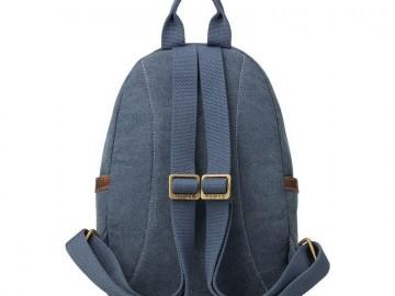 Troop London TRP0255 Malý batoh z přírodní bavlny - Blue