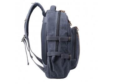 Troop London TRP0257 Velký batoh z přírodní bavlny - Blue