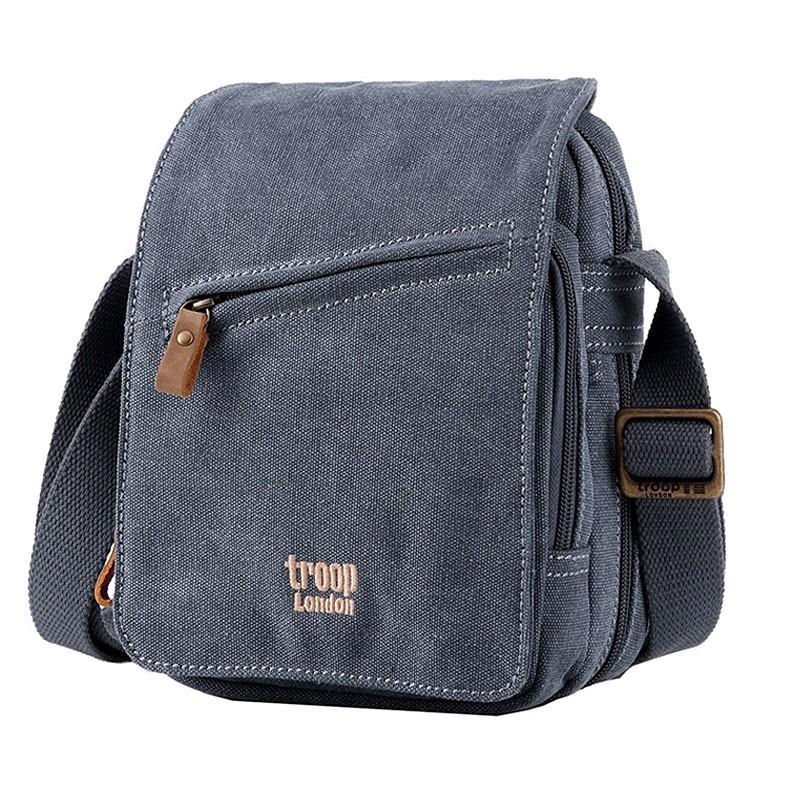 Troop London TRP0239 Rozšířitelná menší taška přes rameno - Blue
