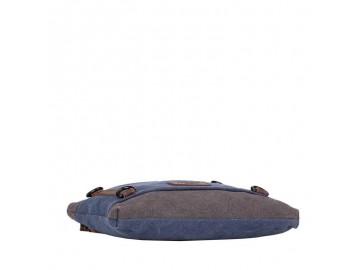 Troop London TRP0467 Jednoduchá dámská taška - Blue/ Grey