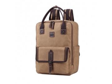 Troop London TRP0487 Taška a ruksak v jednom vhodný i pro NTB - Camel