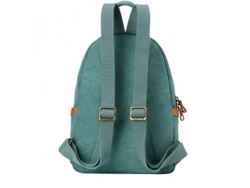 Troop London TRP0255 Malý batoh z přírodní bavlny - Turquoise