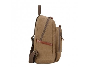 Troop London TRP0510 Malý batoh z přírodní bavlny - Black