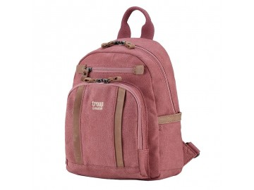 Troop London TRP0255 Malý batoh z přírodní bavlny - Pink