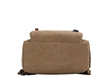Troop London TRP0510 Malý batoh z přírodní bavlny - Brown