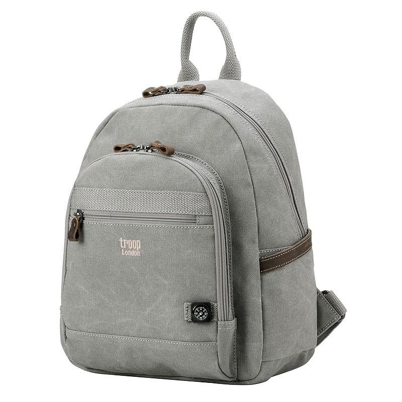 Troop London TRP0510 Malý batoh z přírodní bavlny - Grey