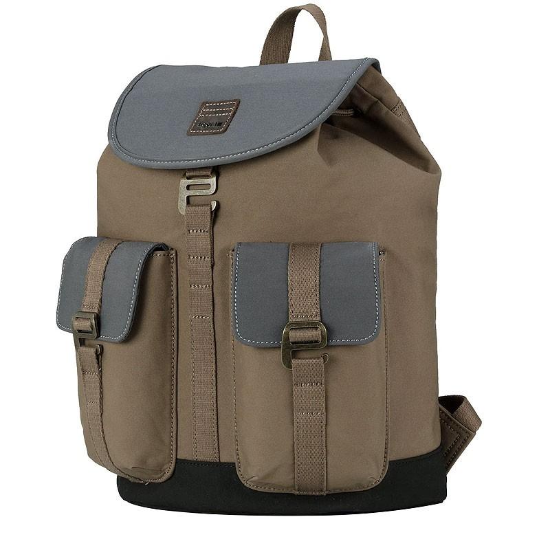 Troop London TRP0521 Velký batoh s dvěmi kapsičkami - Khaki