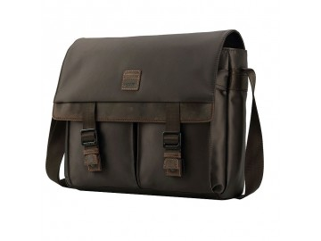 Troop London TRP0526 Větší taška přes rameno - Dark Brown