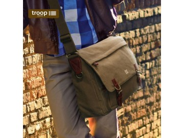 Troop London TRP0207 Brašna na notebook 15,6 - Khaki