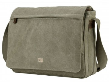 Troop London TRP0371 Brašna na notebook 17 - Khaki