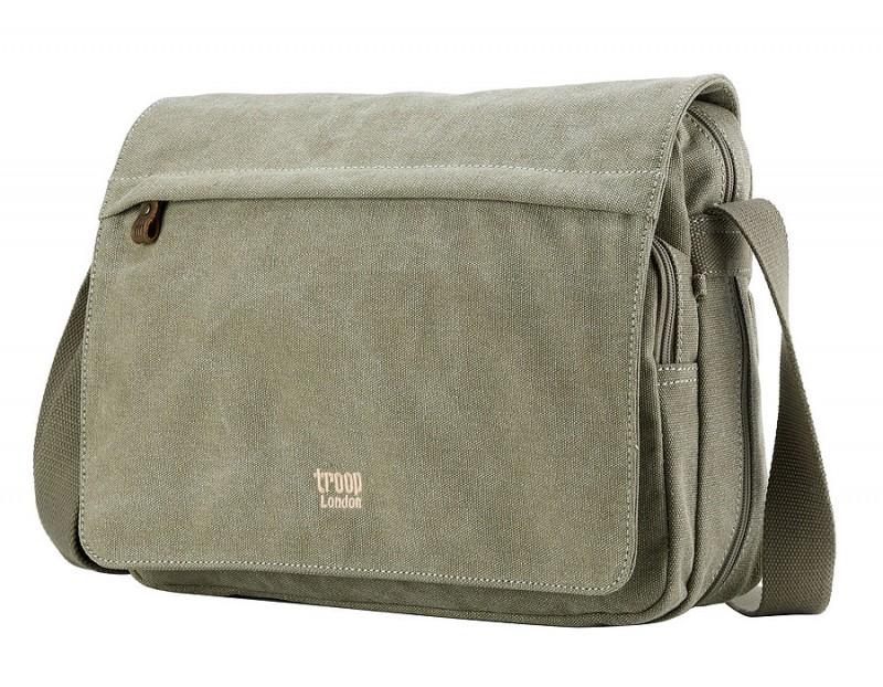 Troop London TRP0241 Rozšířitelná taška přes rameno - Khaki